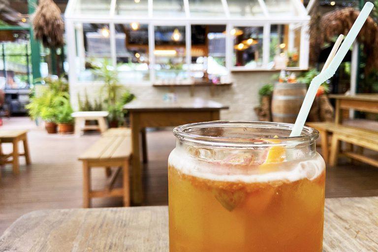 【三峽皇后鎮森林|露營車一泊二食Part1】園區介紹、溫室下午茶、美拍夢幻玻璃屋