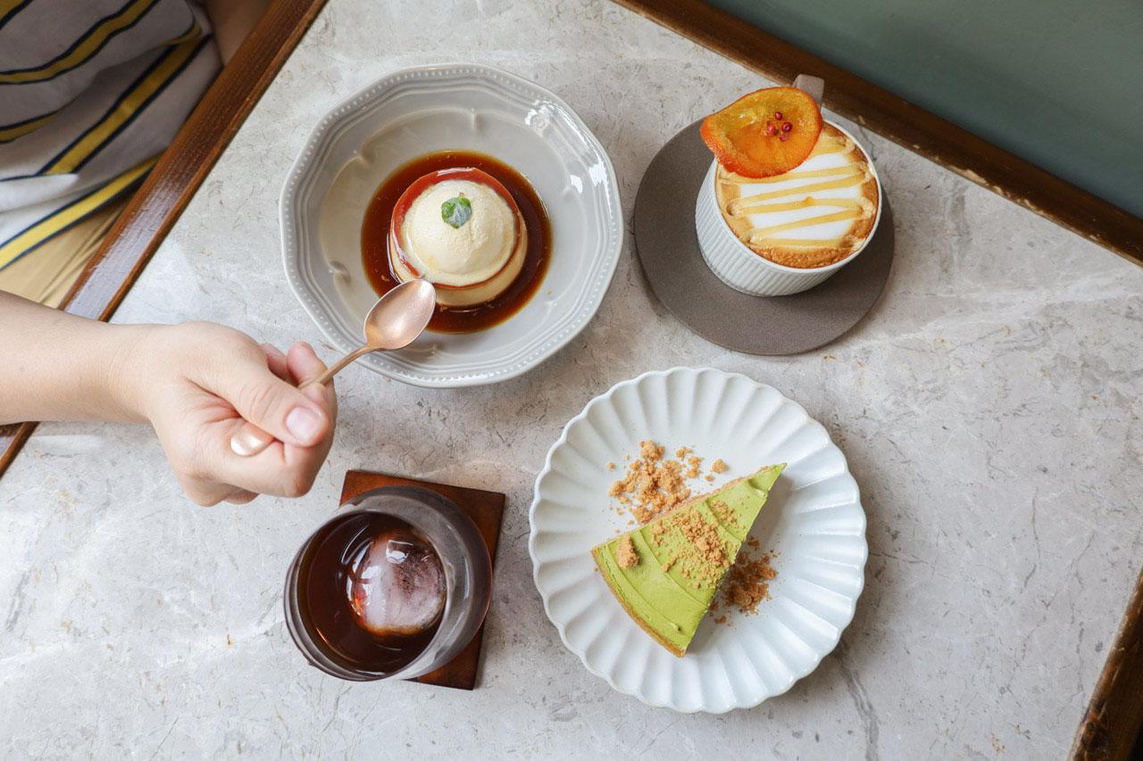 【台北。光景咖啡】隱身居宅裡的典雅咖啡廳,必吃招牌甜點/焦糖烤布丁、濱佐園抹茶塔